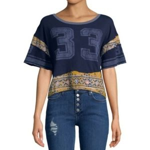 NEW Free People Women's Graphic Cotton T-Shirt